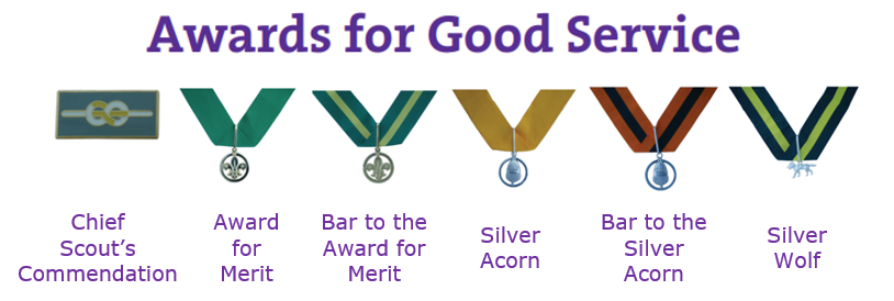 Banner for Awards for Good Service